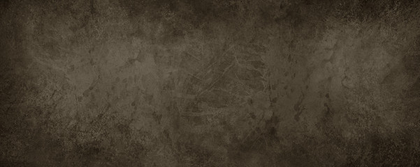 old brown paper background with marbled vintage texture in dark coffee color, antique brown abstract background for website banner