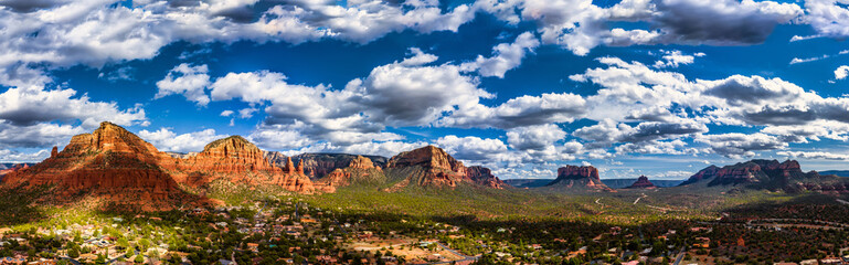 Sedona Arizona Panorama overlooking Red Rock State Park