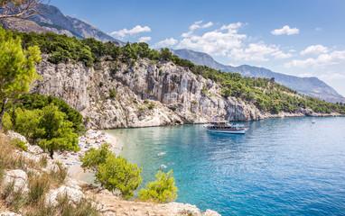 Sceneria plaży Nugal w Chorwacji