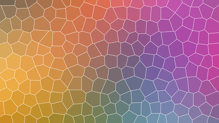 Abstract Multicolor Broken Stained Glass Background Effect in Illustration Texture Design