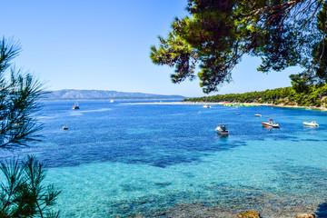Zlatni Rat beach (Golden Horn), Bol city, Brac island, Croatia.