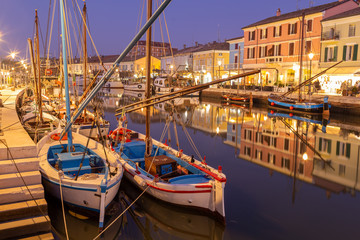 cesenatico fishing village on the Adriatic Sea famous for its fish restaurants Romagna Romagna