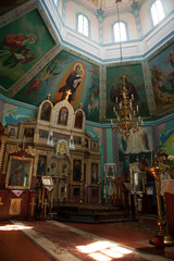 Orthodox baptism in the church