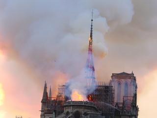 Notre Dame de Paris burning on the 15 th april 2019.