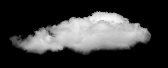 White cloud, Fluffy texture , Abstract, isolated on black background