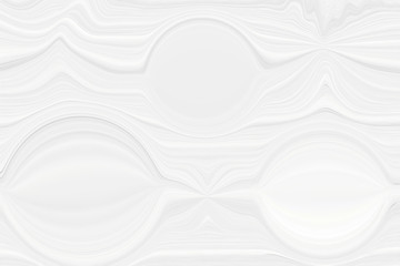 Blurred white background with elements of circles. The texture of volumetric figures for a screensaver or wedding card. Blur with space design.