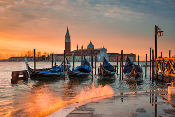 Sunrise at the Grand Canal in Venice, Italy