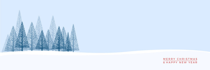 Christmas. Abstract vector illustration. Winter landscape background.
