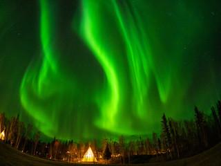 カナダ イエローナイフ郊外のオーロラ Aurora of Yellowknife, Canada