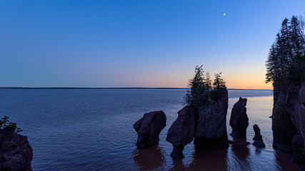 Sunset at Hopewell Rocks
