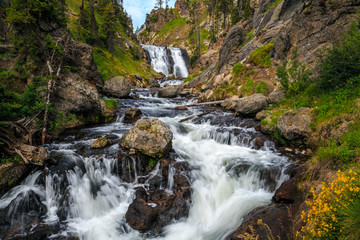 Mystic Falls in Yellowstone National Park