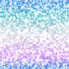 Pastel color triangle seamless pattern.