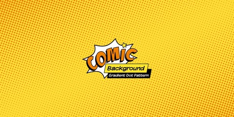 Retro comic background, pop art halftone pattern