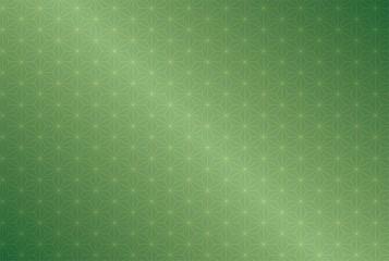 緑色のグラデーションの背景と麻の葉模様の壁紙