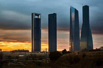 The four towers of madrid Spain