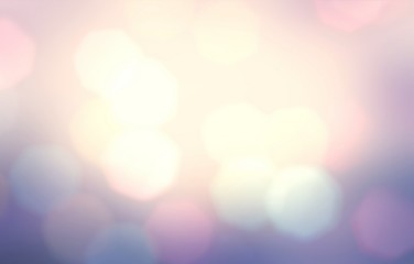 Pastel bokeh pink yellow blue gradient. wonderful cool background. Holiday garland lights pattern. Abstract blurred texture.