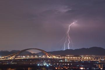 bridge and thunder