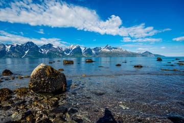 Norway. Stones on the coast of the Norwegian Sea