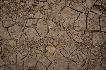 Dry cracked land surface texture