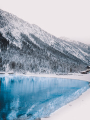 Lake Plansee in Austria during Winter