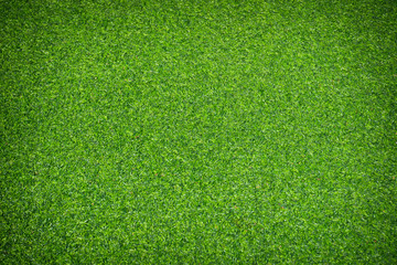 Artificial green grass texture background.