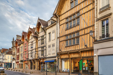 Street in Troyes, France