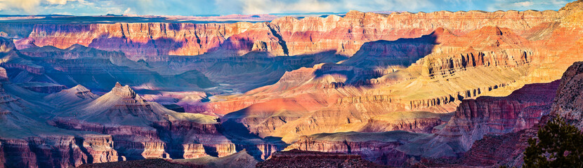 Panorama of Grand Canyon from Grandview Point