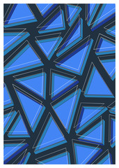 Abstract geometric composition of vector illustration for print, advertisement, magazine, interior - Vector