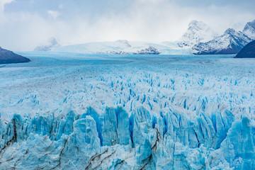 Closeup of Perito Moreno Glacier in Patagonia, Argentina