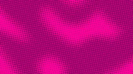 Magenta pink retro pop art background with halftone dots design