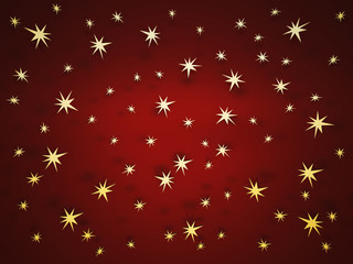 Background abstraction with golden stars