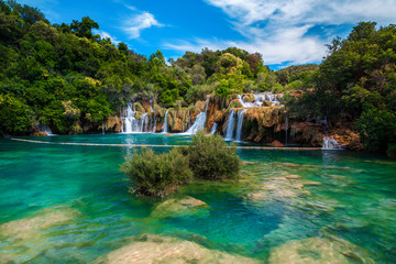 Amazing Krka National Park with majestic waterfalls, Sibenik, Dalmatia, Croatia