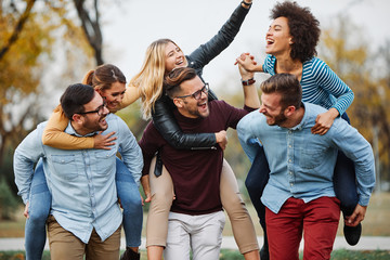 young people having fun happy group friendship student lifestyle