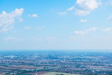 krajobraz, niebo i piękne chmury Widok z samolotu rano odpowiednie tło, pomysł kopia przestrzeń