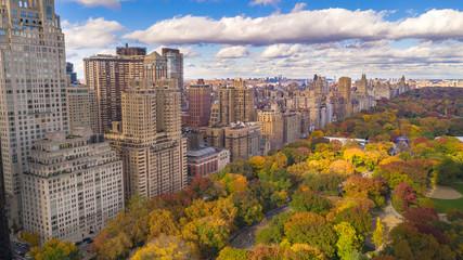 Kolor jesieni Jesienne budynki Budynki Central Park West NYC
