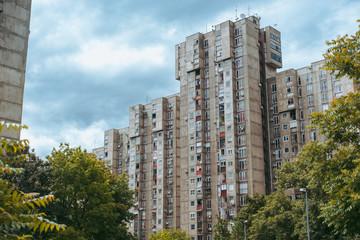 Brutalist soviet architecture of Yugoslavia