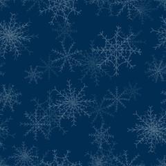 Seamless repeating christmas snowflake background