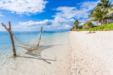beach on tropical island, Morne Brabant, Mauritius