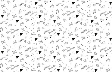 Pattern music player abstract vector