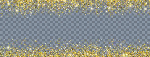 Golden Sand Particles Header Transparent