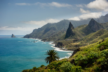 North coast of Tenerife the biggest of Canary Islands