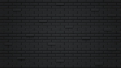 Black brick wall seamless background