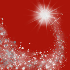 Red Christmas lights abstract background.