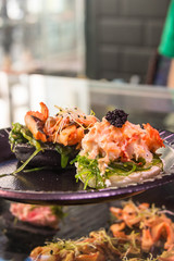 Spanish crab and caviar montadito