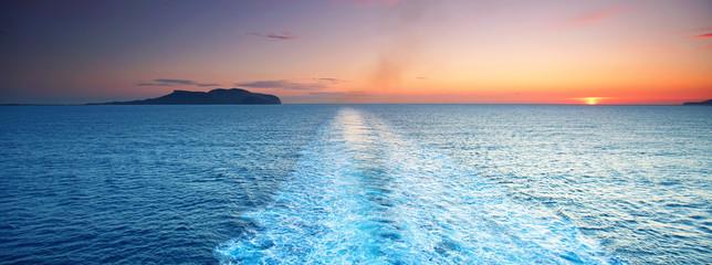 Blick übers Meer - Kreuzfahrt
