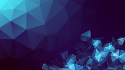 Abstract polygon background. Geometric low poly mosaic. Colorful triangle pattern. Modern diamond graphic design backdrop. Banner, cover, wallpaper presentation template. Stock vector illustration