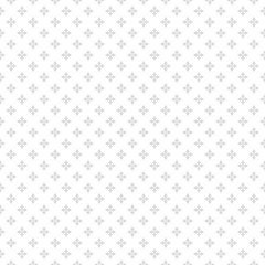 Silver seamless pattern with small flowers. Subtle vector geometric texture