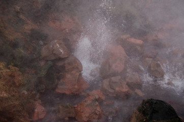 Clean geothermal energy escaped by geysers from the bowels of the earth