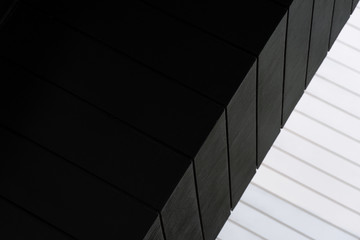 white and black line of architecture background