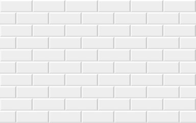 White brick wall background. Abstract geometric Seamless pattern. Vector illustration. eps 10